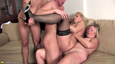 Old and young, Milf and boy, Old mom, Old gangbang, Mom and boy, Mature and boy