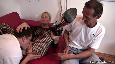 Watching wife, His wife, Czech wife, Old dick, Cuckold wife