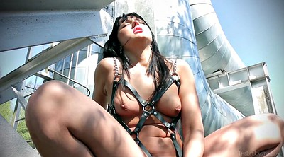 Chained, Chain, Chains, Public bdsm, Pussy bdsm, Black bdsm