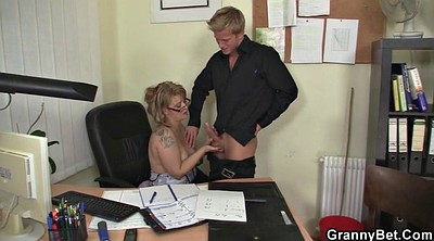 Old woman, Woman, Granny mature, Office granny, Young sex, Mature woman