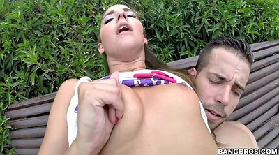 Outdoors, Riding cock, Anal public