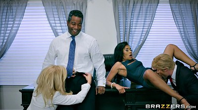 Michelle, Clothed, Milf office, Foursome