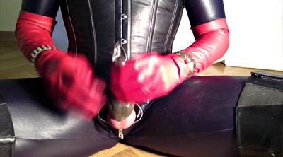 Boots, Latex, Glove gay, Gay cum, Crossdresser