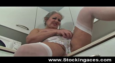 Spread, Opening, Mature solo, Hairy grannies