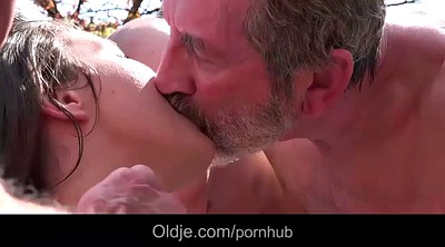 Grandpa, Old grandpa, Old gangbang, Old goes young, Public gangbang, Grandpa old
