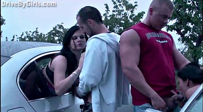 Car sex, Window, Pregnant gangbang
