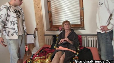 Threesome young, Skinny mature, Skinny granny