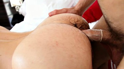 Oil massage, Hairy pussy, Gay cum