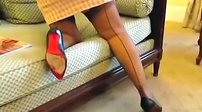 Stockings, Mature foot, Leg, Flash