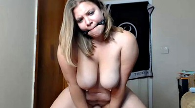 Gagging, Dildo ride, Milf riding dildo