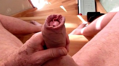 Gay, Gay cum, Cummings, Movement, Foreskin