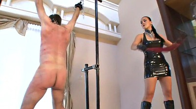 Latex, Whipping, Whip, Dress, Femdom whipping, Male slave