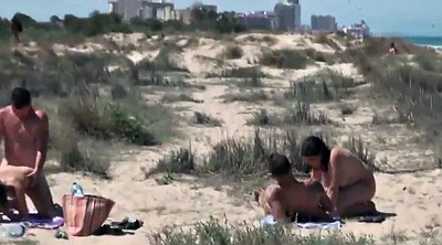Couple, Nudist, Public beach