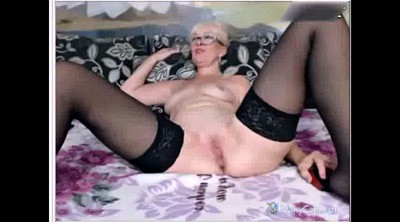 Mature webcam, Mom handjob