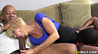 Blonde mature, Black on blonde