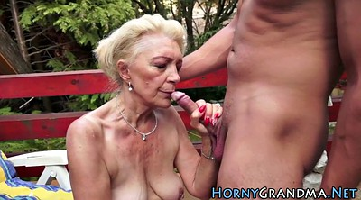Grandma, Granny blowjob, Mature whore