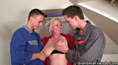 Young old, Wife threesome, Mature threesome, Mature double, Granny threesome