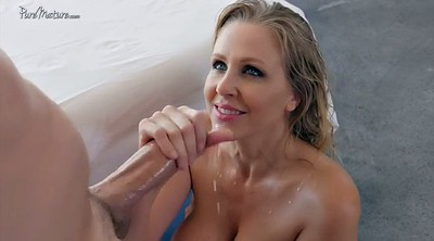 Julia ann, Mature massage, Mature shower