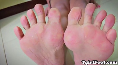 Feet solo, Sole, Show foot, Shemale foot, Ladyboy solo
