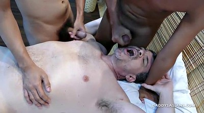 Asian boy, Spit, Spitting, Daddy gay, Massage sex, Dad massage