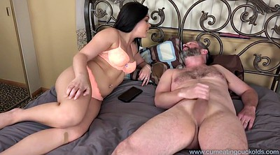 Wife watches, Cum eat