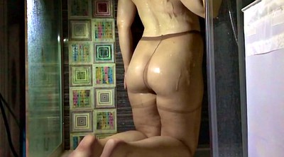Pantyhose, Under, Showering