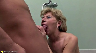 Piss, Mother, Mother and son, Mature anal, Mother son, Pissing granny