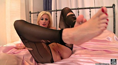 Blonde, Blonde stockings, Stocking foot