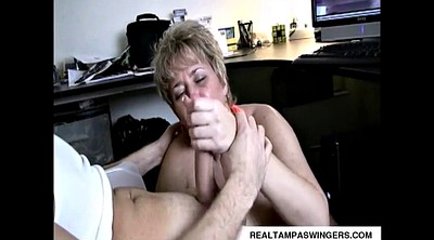 Mature, Hand job, Hand, Mature swingers