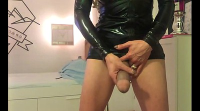 Trans, Shemale latex, Latex masturbation, Latex shemale, German latex