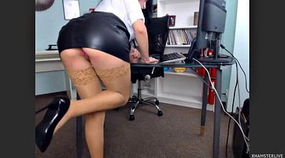 Webcam beauty, Butt, Office pantyhose