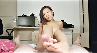 Footjob, Footjob cumshot, Asian footjob, Asian feet