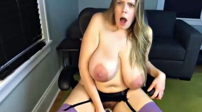 Saggy tits, Mature dildo, Huge natural tits