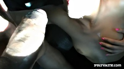 Girl fucks guy, Fuck in car, Car blowjob