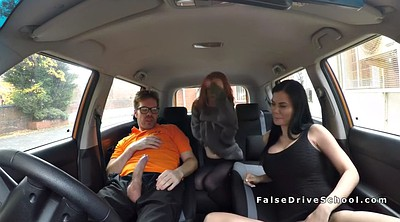 Fake, Fake driving, Driving school, Drive, Amateur threesome