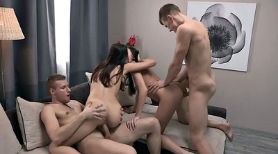 Foursome, Out, Russian sex, Russian group