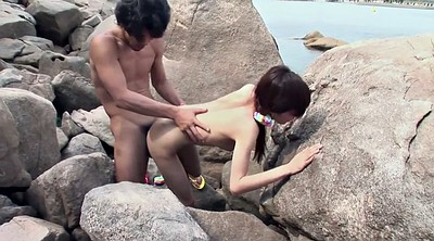 Japanese teen, Japanese handjob, Japanese couple, Beach couple