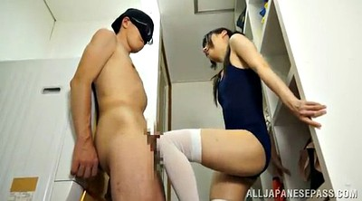 Asian footjob, Suit