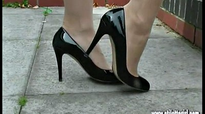 Heels, Nylon foot, Milf foot, Leggy, High