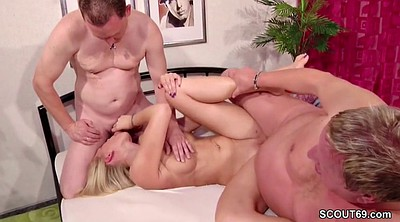 Young, German casting, Threesome casting, Old couples