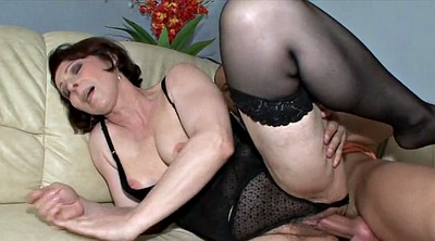Old and young, Mature hairy, Lovers, Brunette, Young and old, Mature milf