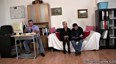 Interview, Granny mature, Young casting, Threesome mature