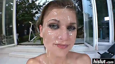 Full, Outdoor gangbang, Beautiful face