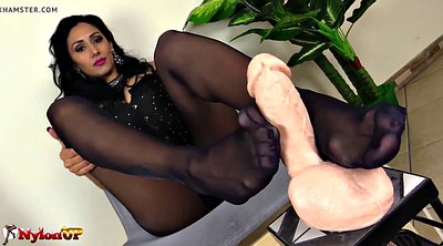 Footjob, Pantyhose feet, Pantyhose footjob, Mistress feet