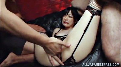 Stocking, Asian gangbang, Hardcore gangbang, Stockings handjob