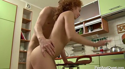 Sunny, Anal creampies, First redhead, Redheads