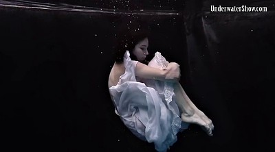 Dress, Solo teen, Underwater, Stripping