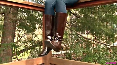 Leather, Shoeplay, Dangling, Boot