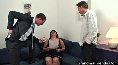 Young wife, Mature threesome
