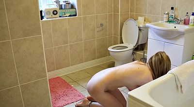 Toilet, Solo young girls, Solo girl, Nude teen